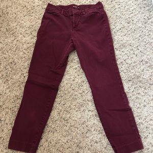 Maroon pixie cut capris from Old Navy